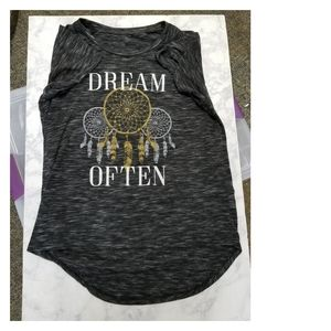 Tops - Dream Catcher Graphic Tee Top Grey Size M Shirt